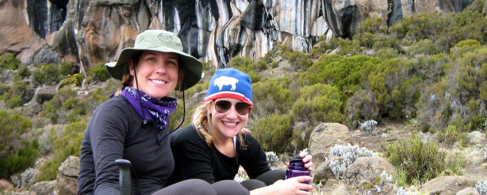 Hydratation sur le Kilimandjaro