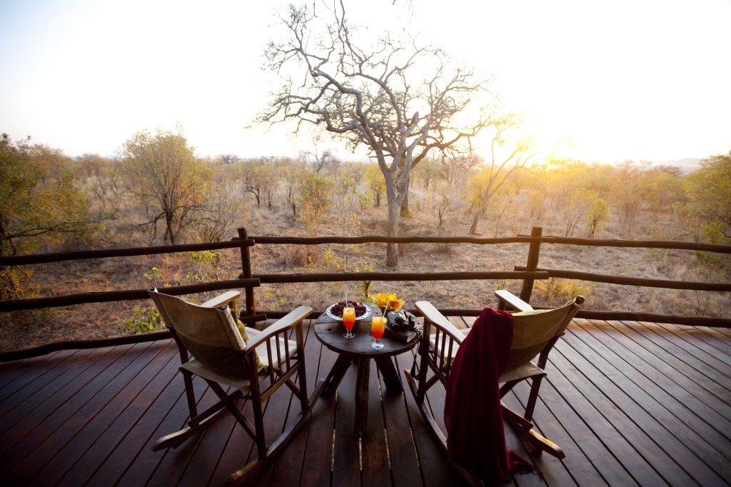 Coucher de soleil en safari
