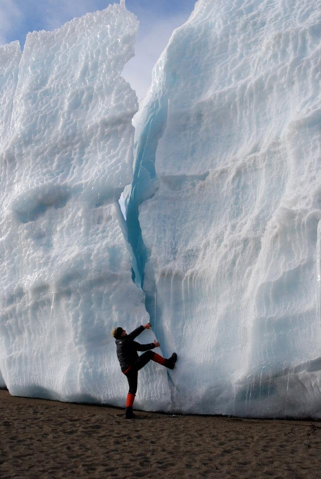 Kilimanjaro glacier by Ted Thomas