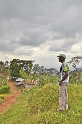 Manase, SENE mountain guide on the Kilimanjaro foothills walk