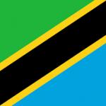 Tanzania flag - Green, yellow, black and blue