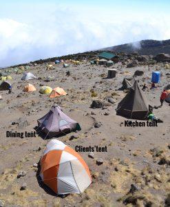 SENE tents on Kilimanjaro