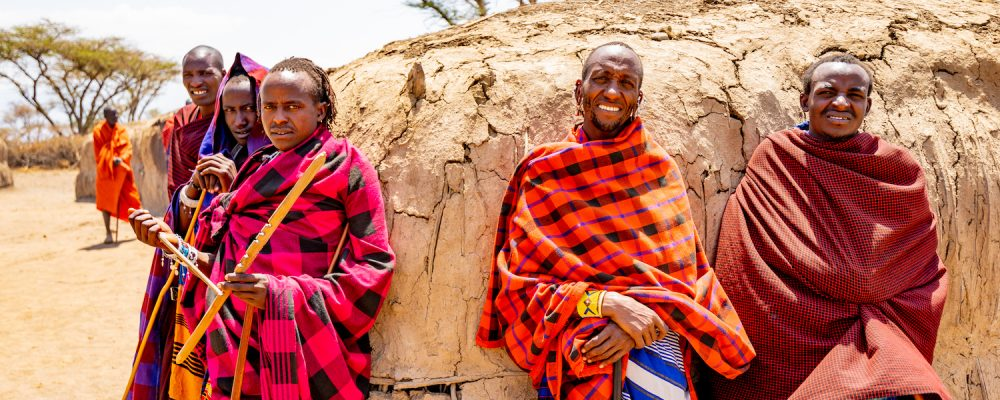 Maasai men in Ngorongoro conservation area